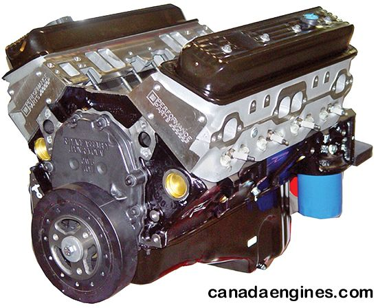 Canada Engines GM Performance Parts ZZ 383 cid crate motor installed in a 1993 GMC full size Rally van.