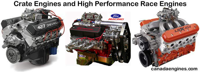 Crate Engines and High Performance  		Custom Built Street or Strip Engines.
