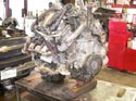 14_Chevy_pickup_truck_engine_removed_on_hoist