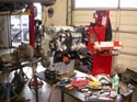 50_Chevrolet_minivan_remanufactured_V6_engine_on_workbench