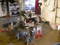 53_Chev_minivan_rebuilt_V6_engine_on_workbench
