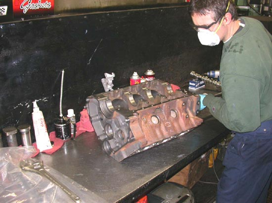 106_fitting_V6_camshaft_remanufactured_engine
