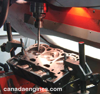 In house trained technicians do precision cyllinder head and engine block machining